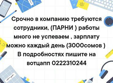 уборщица подработка в Кыргызстан: Срочно в компанию требуется парни зарплата каждый день!!! #работа