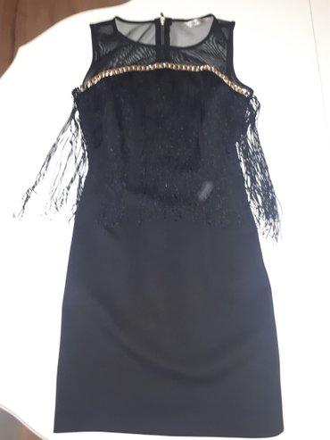 Nova crna haljina sa resama velicina 36 - Indija