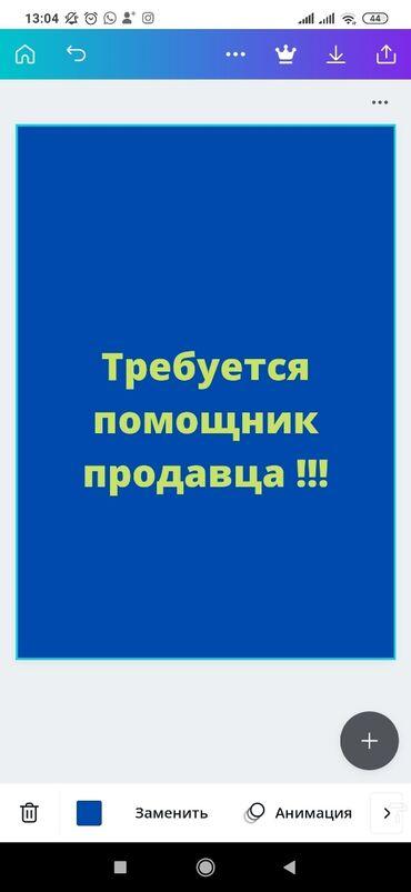 требуется вышивальщица в Кыргызстан: Срочно требуется помощник продавца!!! Мы ищем сильных и