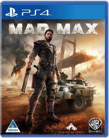 Bakı şəhərində Ps4 üçün mad max oyun diski satılır Yenidir bağlı upokovkada