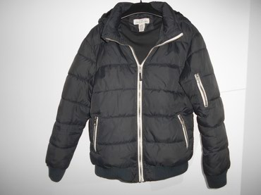 H&M decija muska nepromociva zimska jakna crna, za visinu deteta - Belgrade