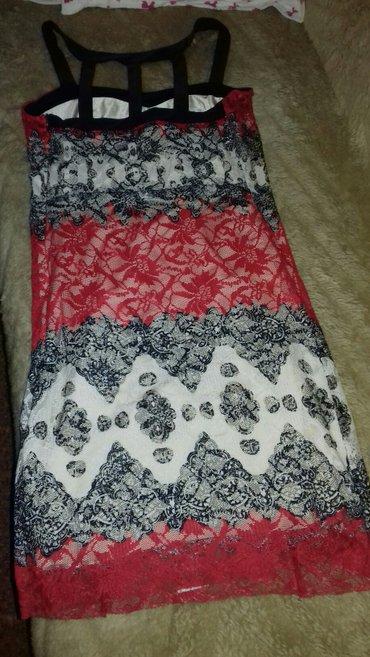 Prelepa haljina sa trakama na ledjima. Nosena jednom i to na par sati  - Vrsac