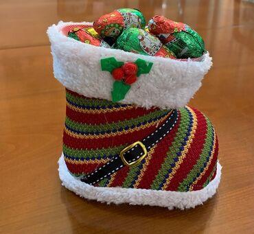 праздничные платья больших размеров в Кыргызстан: Упаковка для новогоднего подарка .Башмачок довольно вместительный.