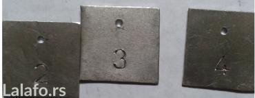 Prodajem komplet brojeva sa slike, na aluminijumskim pločicama - Nova Pazova