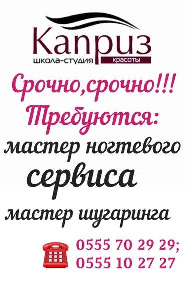 требуется: мастер ногтевого сервиса с опытом работы в Бишкек