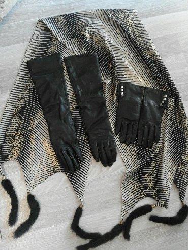 Шуба.чёрный брилиант.перчатки и шарф подарок в Сабаиль - фото 4