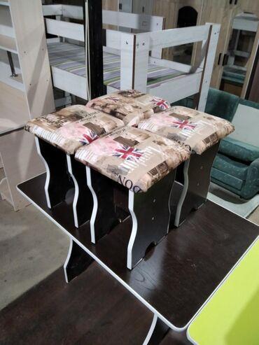 деревянный пол цена бишкек в Кыргызстан: Комплект стол и стулья | Кухонный | на 4-6 персон