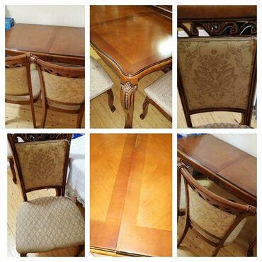 Malazyanın stol 6 stulu satılır.Agır və keyfiyyətli