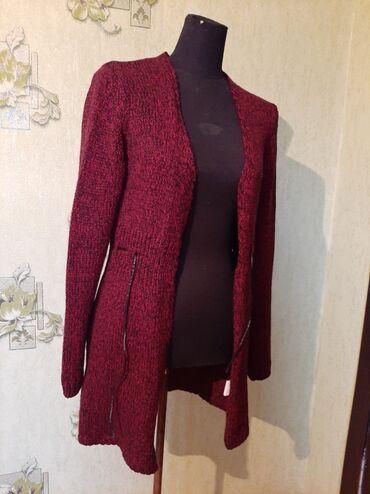 Свитера - Кыргызстан: Кардиган, бордовый цвет. Made in Turkey