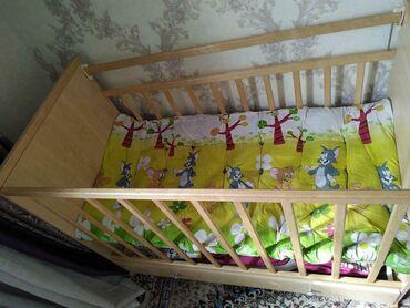 Продаю детскую кроватку из дерева, состояние НОВОЕ, не пользовались, т
