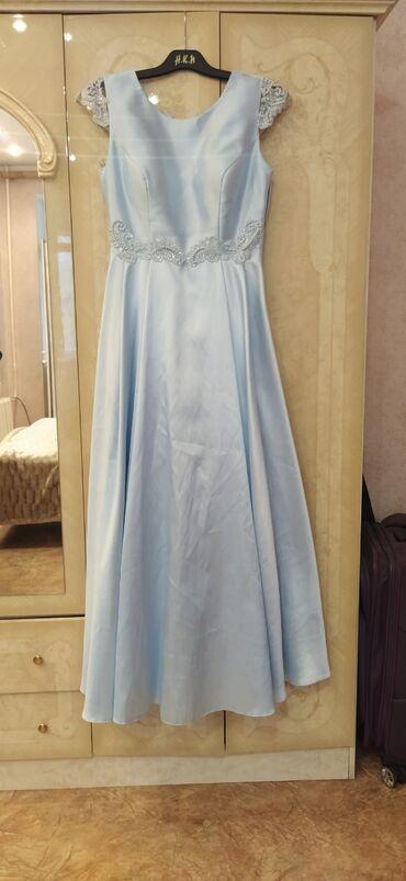 вечернее нарядное платье в Кыргызстан: Нарядное платье из атласа, отделка шикарная! Размер 44-46. Покупали за