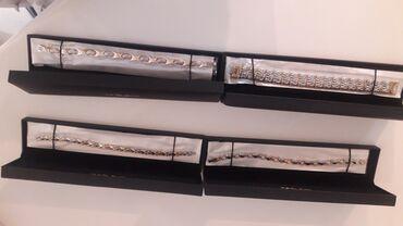 Серебряные браслеты с золотым напылением. Лечебные Производство Чехия