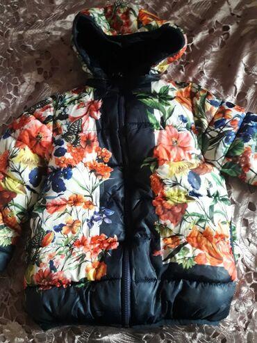Куртка тёплая на 4-5лет Б/У состояние хорошее