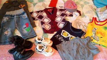 Продам вещи на мальчика:зимние ботинки 23 р-р, кроссовки 23р-р,свитер