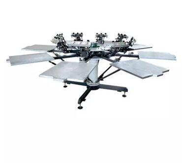 Оборудование для бизнеса - Кыргызстан: Новая заводская шелкография. Карусель 6 головочная, печка( сушилка) дл