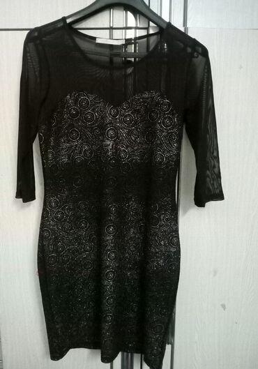 Carape sa prstima - Srbija: Elegantna crna haljina sa elastinom XL velicine