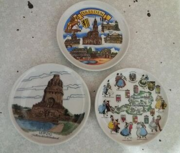 Тарелки сувенирные из Германии, Австрии, Италии. Диаметр 10 см