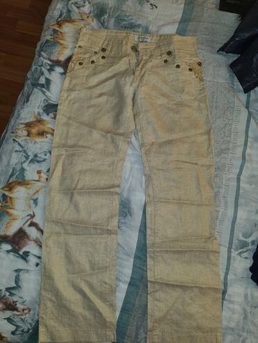 Турецкие льняные брюки  В хорошем состоянии