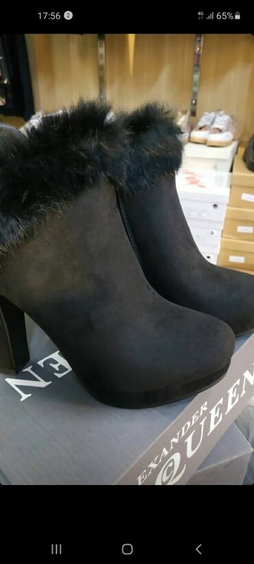 Зимние ботильоны и ботинки