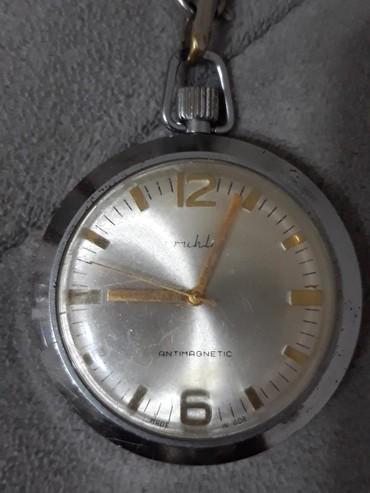 Ostalo | Smederevska Palanka: Džepni sat RUHLA,ispravan i očuvan.Cena 2400 dinara