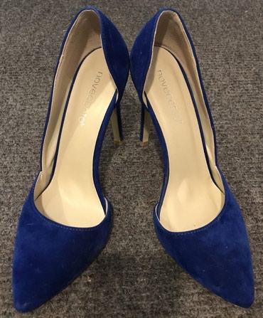 Svetlo-plave-broj - Srbija: Novecento cipele, kraljevski plave, obuvene jednom. Broj 39
