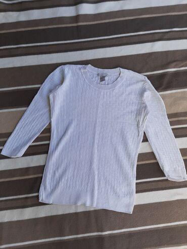 Bluza sa rukav - Srbija: H&M BELA BLUZA SA RADOM DUGI RUKAV