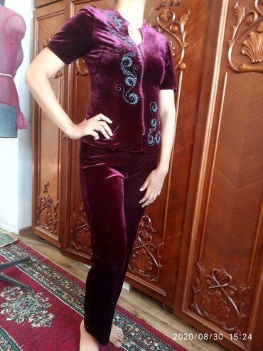 Женская одежда - Кашка-Суу: Классическая двойка из королевского вилюра с кыргызскими