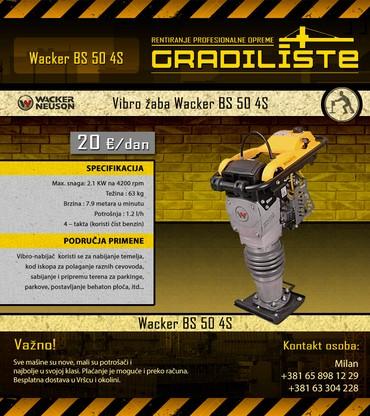 Vibro zaba Wacker Neuson BS 50 4S - Vrsac