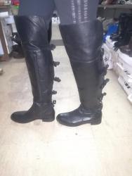 Ženska obuća | Smederevska Palanka: Kožne Čizme broj 40. Malo nošene, jedna je pencatirana. Koža spolja