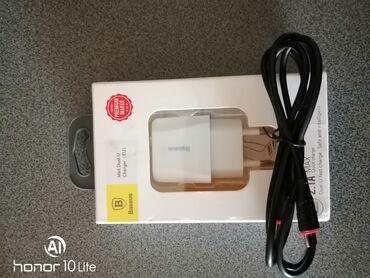 Adapter baseus 2 çıxışli. +mikro uzb kabel catdirma m. 20yanvar st
