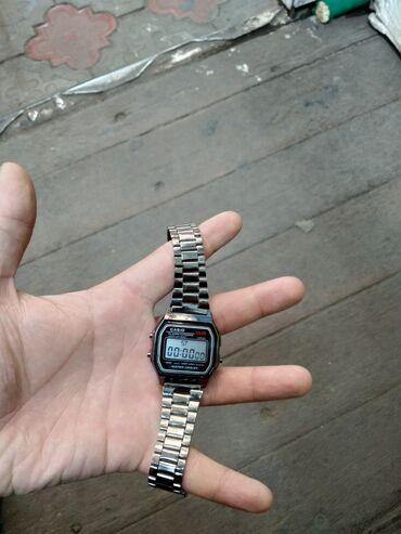 retro vesy в Кыргызстан: Черные Унисекс Наручные часы Casio