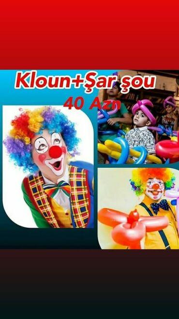 Uşaq ad günü teşkilati kloun_mirt_mirt uşaq ad günleri ve kiçiy