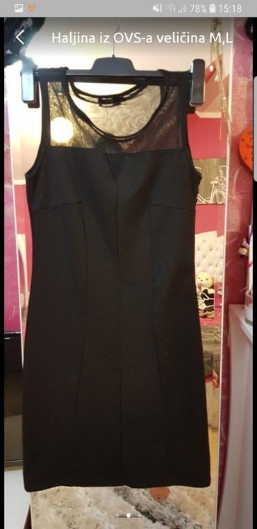 Haljine - Odzaci: Haljina crna iz OVS-a nošena jednom veličina S,M