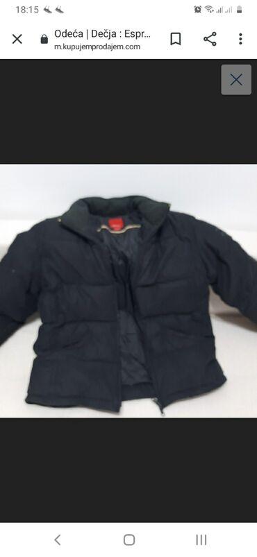Duzina cm crni - Srbija: Esprit perjana crna jakna 164 L duzina 62 cm,rukav 61 cm, pazuh na