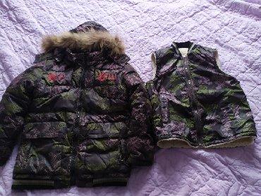 детские вязанные жилетки в Кыргызстан: Детская куртка с жилеткой и штаны комбенизон фирмы Крош на 8-11лет