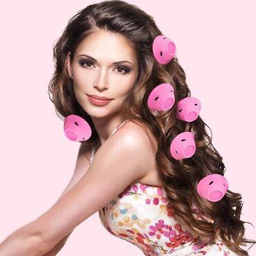 Термо бигсиликоновые бигуди для волос резиновые плойка для волос для