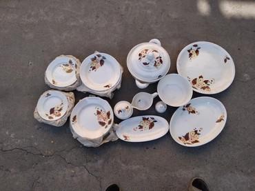 фарфоровый сервис в Кыргызстан: Сервис столовый на 6 персон. Новый, советский