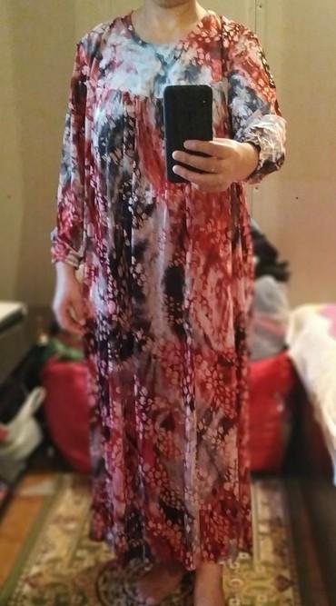 Платье женское б/у хорошее состояние.50-52 размер. 350 сом. в Лебединовка