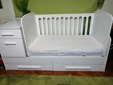 Ljuljaska za bebe - Srbija: Prodajem deciji krevetac Meda 5 u 1,koji se ljulja i tako uspavljuje