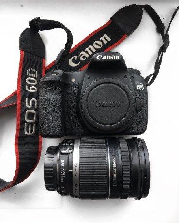 фотоаппарат-60d в Кыргызстан: Срочно продаётся 60d canon  Цена 24000 В комплекте объектив 18:200 f3