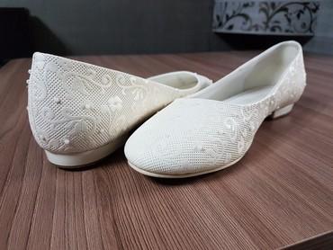 состояние хорошоя в Кыргызстан: Балетки,цвет айвори,размер 40 (на полный 39) хорошо подойдут к