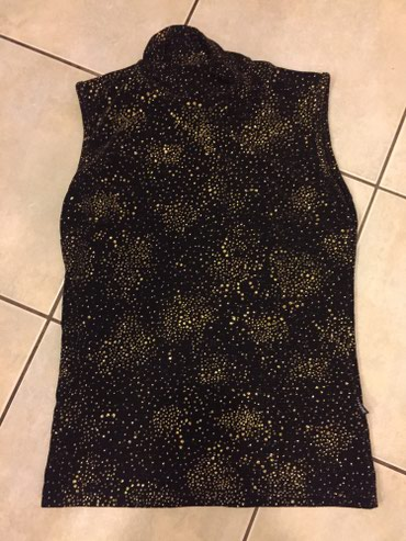 Μαυρη ελαστικη αμανικη μπλούζα με χρυσο glitter . Καινούργια Νο Small  σε Rest of Attica