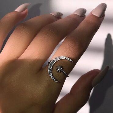 Нашумевшие кольца с Луной   Есть в золотом и серебристом цвете  Вотсап