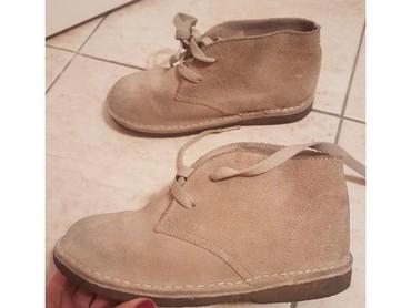 Decije kozne cipele - Srbija: Beneton kozne decije cipele, broj 31. Gaziste 20-21 cm.Prirodna velur
