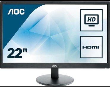 мониторы aoc в Кыргызстан: AOC E2270SWN VGA + HDMI  Монитор состояние отлично  диагональ 21.5