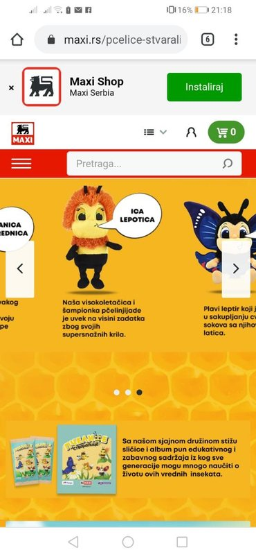 Pantalone maxi me - Srbija: Da li neko prodaje pcelice Maxi?