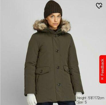 куртка в Кыргызстан: Зимняя парка Uniqlo в размере М, подойдёт на 46-48 размер, мех на