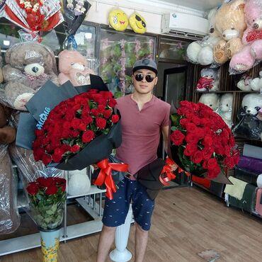 Цветы от Согдианы--Роза метр 101 роза Тюльпаны 🤍Фрезии 🤍Лилии