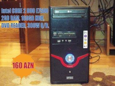 Bakı şəhərində Personal Kompyuter. Gigabyte G31 anakart, 2GB RAM, Core 2 Duo E7500 CP