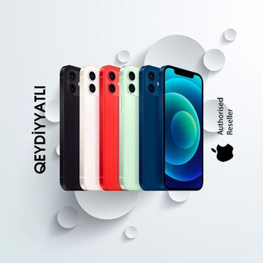 Yeni iPhone 12 128 GB Qara